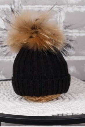 Вязаная шапочка Pumpkin черная