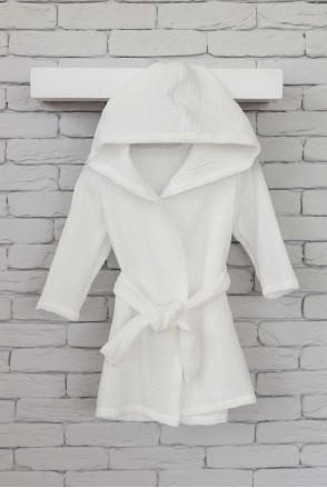 Муслиновый халат Soft белый