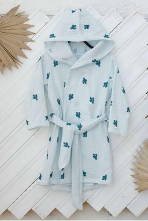Муслиновый халат Soft Кактусы