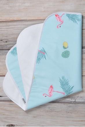 Непромокаемая пеленка 60х80 Фламинго