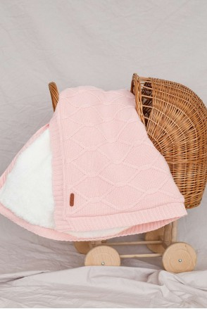 Утепленный плед Sofi розовый