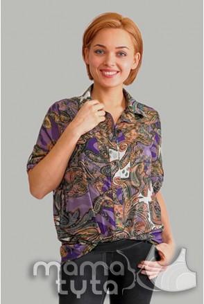 Блуза Аглая СИРЕНЕВАЯ СКАЗКА 182.2 для беременных и кормящих