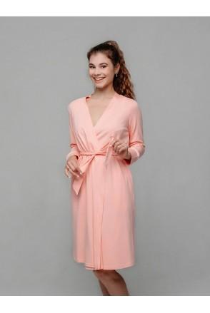 """Халат """"La Rose"""" арт. 25314 розовый для беременных и кормления"""