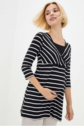 Базовая туника в полоску для беременных и кормления