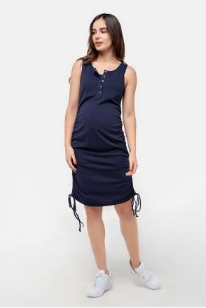 Сарафан-майка темно-синій для вагітних і годування