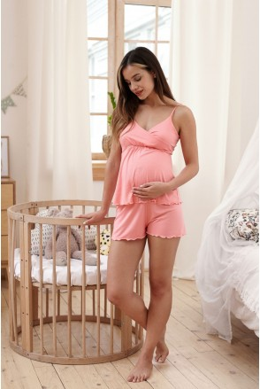 Піжама Mirelle (корал) для вагітних і годування