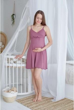 Нічна сорочка Mirelle (фрез) для вагітних і годування