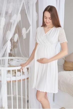 Нічна сорочка Grace (молочний) для вагітних і годування