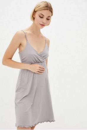 Нічна сорочка Mirelle (димчастий) для вагітних і годування