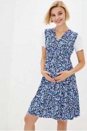 Сорочка домашня (blue) для вагітних і годування