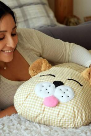 Подушка-комфортер для вагітних і годування Ведмедик