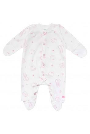 Комбинезон для деток с малым весом арт. 01102 молочный/розовый