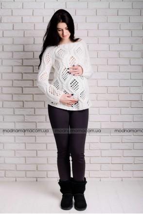 Штани-легінси 116393-4 коричневий для вагітних