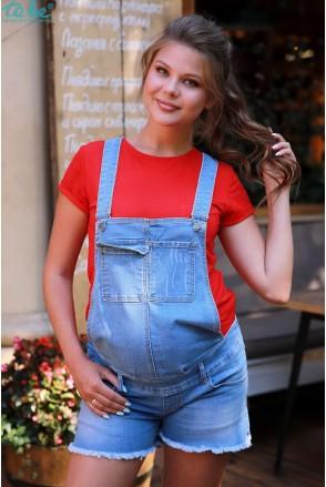 Напівкомбінезон джинсовий арт. 4175432 синій варка для вагітних