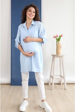Брюки 1138708-11 цветочно-белый для беременных
