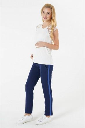 Штани 4071284-11 темно-синій для вагітних