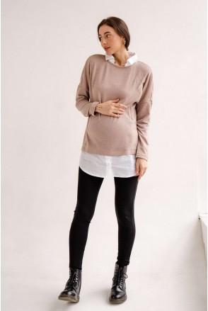 Брюки (леггинсы) 1082219-3 черный для беременных