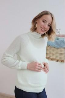 Джемпер 4199080 цветочно-белый для беременных
