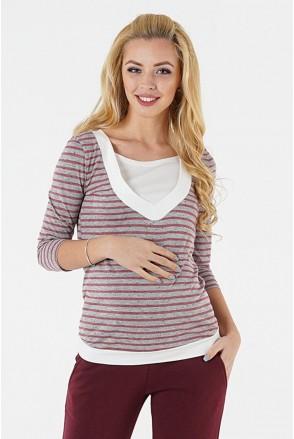 Джемпер для беременных и кормления 1335246 серый