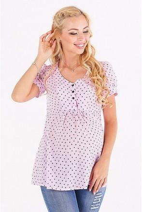 Блуза 131717215 розовый для беременных и кормления