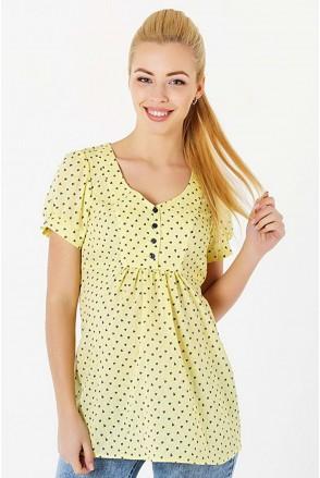 Блуза 131717215 жёлтый для беременных и кормления