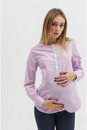 Блуза 1707224 сиреневый для беременных и кормления