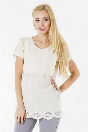 Блуза 3093074 кремовый для беременных и кормления