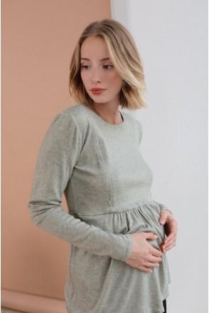 Джемпер (туника) для беременных и кормления 4046050 оливка