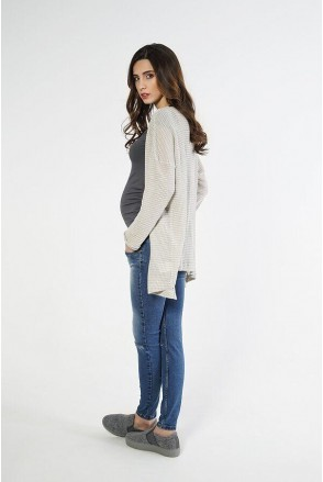 Брюки джинсовые 1293691-7 синий варка 2 для беременных