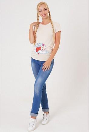 Брюки джинсовые 10008691-11 синие для беременных