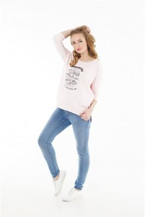 Брюки джинсовые 1095653-1 синие варка для беременных