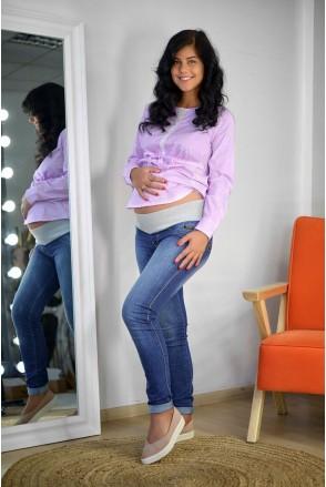 Джинсы 792629-5 синий варка 1 для беременных