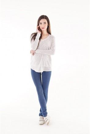 Джинси 1265691-6 синій варка СОФТ для вагітних