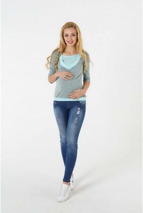 Джинсы 1163729-5 синий варка 2 для беременных