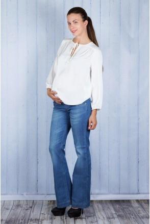 Штани джинсові 721414 сині для вагітних
