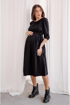 Платье 0308206 черный для беременных