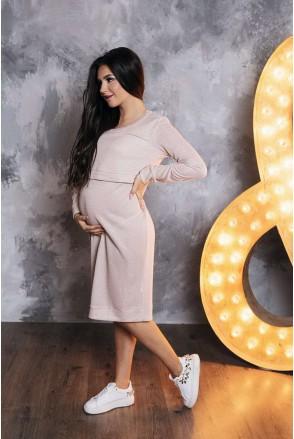 Платье арт. 31380241 пудра для беременных и кормящих