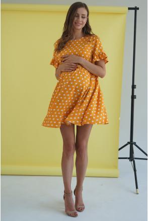 Платье 4249726 шафран для беременных и кормления