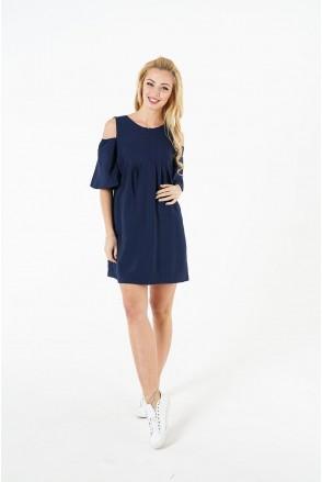 Платье 1384169 синий для беременных и кормления