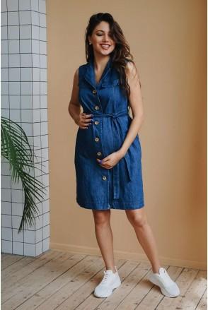 Платье 4238477 джинсовое деним для беременных и кормления