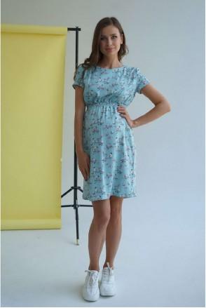 Платье 3178726 мятный для беременных и кормления