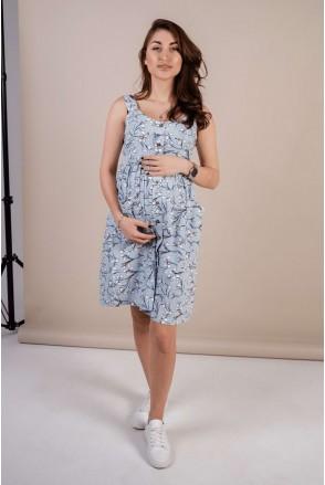 Сарафан 4262712 Блакитний для вагітних