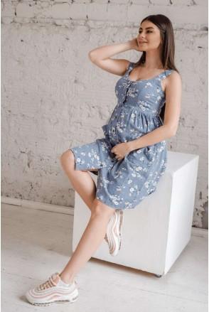 Сарафан 4262712 денім для вагітних