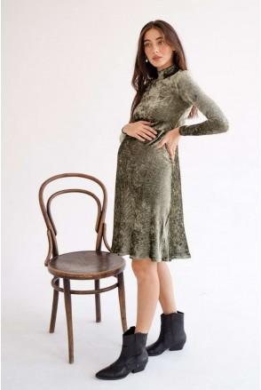 Сукня 4226126 темно-зелений для вагітних