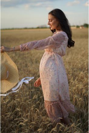 Сукня 1458704 персиковий для вагітних