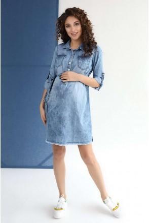 Платье арт. 4152463 деним для беременных и кормления