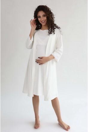 Халат 3057041 кремовый для беременных и кормления