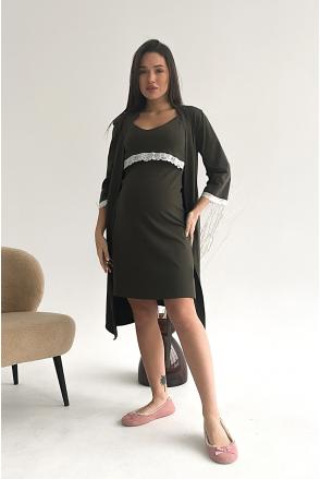 Сорочка 3059041 хаки для беременных и кормления