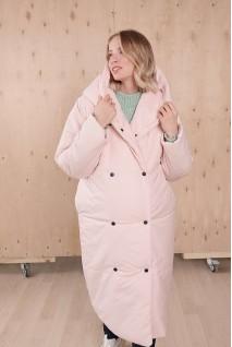 Зимняя куртка арт. 2734274 персиковый крем для беременных
