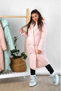 Зимняя куртка арт. 2734274 пудра для беременных